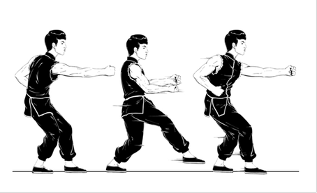 figure4-凹步-beng-quan-walking-from-left-to-right-in-ao-bu-counter-turned-step